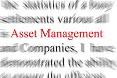 Gestão de activos Imagens de Stock Royalty Free