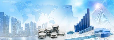 Gestão de contabilidade no distrito financeiro ilustração stock