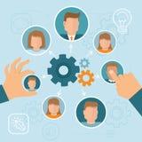 Gestão de recursos humanos Imagem de Stock