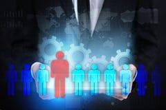 Gestão de recursos humanos, hora, recrutamento, liderança e teambuilding Conceito do negócio e da tecnologia ilustração royalty free