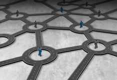 Gestão de rede da logística ilustração do vetor
