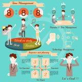 Gestão de tempo, projeto do vetor do infographics Fotografia de Stock