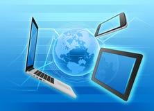 Gestão e controle de dispositivos do mercado Fotos de Stock