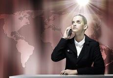 Gestörte Geschäftsfrau Stockfotos
