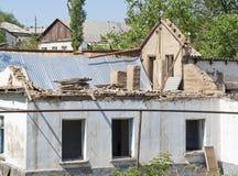 Gestörtes Gebäude stockfoto