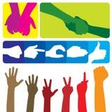 gest dłoni Ilustracji