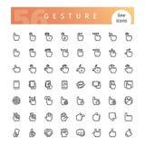 Gest Kreskowe ikony Ustawiać Obraz Stock