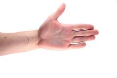 Gest męska ręka zdjęcia royalty free