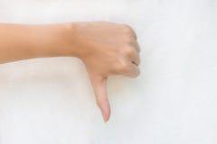Gest ręki żeński nieporozumienie Obrazy Stock