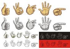 gest ręki ilustracji