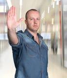 gest robi mężczyzna target1296_0_ Obraz Royalty Free