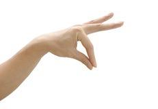 gesta ręki odosobniony biel Fotografia Royalty Free