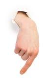 gesta ręki samiec papieru biel Obraz Royalty Free