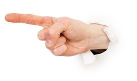 gesta ręki samiec papieru biel Obraz Stock
