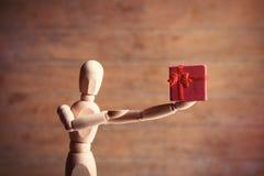 Gestalta mit Geschenk Lizenzfreie Stockfotos