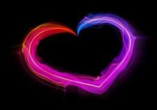Gestalte gegeven stroken van lichte hartvorm Stock Foto