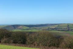 Gestalten Sie Ansicht über die Südabstiege, Sussex landschaftlich Lizenzfreie Stockfotografie