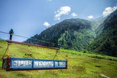 Gestalten Sie Ansicht von Ayder-Hochebene in Rize, die Türkei landschaftlich Lizenzfreies Stockfoto