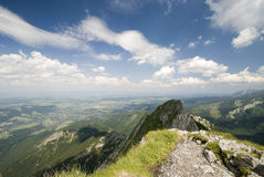 Gestalten Sie Ansicht von Giewon, Tatra, Polen landschaftlich Lizenzfreies Stockbild