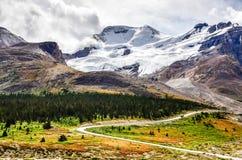 Gestalten Sie Ansicht von Kolumbien-Gletscher im Jaspis NP, Kanada landschaftlich lizenzfreie stockfotos