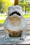 Gestalten Sie Hundemonster im Park von Branicki-Palast Lizenzfreie Stockfotos