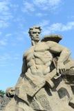 Gestalten Sie Kampf zum Tod des Mamaev Kurgan in Wolgograd stockfoto