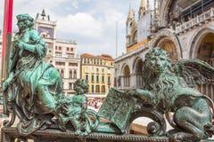 Gestalten Sie Kunst in San Marco Square in Venedig, Italien Stockfotografie