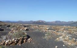Landschaft in Lanzarote Stockbild