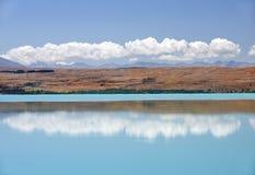 Gestalten Sie mit See im Süden von Neuseeland landschaftlich Stockfotos