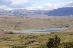 Gestalten Sie am Nationalpark Torres Del Paine, chilenischer Patagonia, Chile landschaftlich Stockfotografie