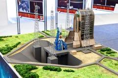 Gestalten Sie Plan Weltraumrakete Soyuz in der Guayana-Raum-Mitte landschaftlich Lizenzfreie Stockfotografie
