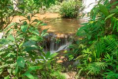 Gestalten Sie Wasserfall namtok pacharogn Nationalpark, Tak Thailand landschaftlich Lizenzfreies Stockbild