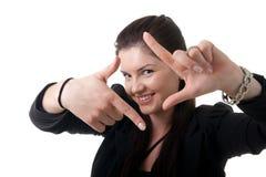 Gestaltengesicht der Geschäftsfrau Lizenzfreies Stockbild