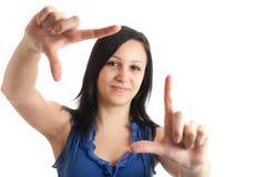 Gestaltengesicht der jungen Frau Lizenzfreies Stockfoto