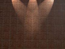 gestaltete rote Backsteinmauer, helle Details des Aufbaus, Lizenzfreies Stockfoto
