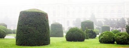 Gestalteter österreichischer Garten Stockbild