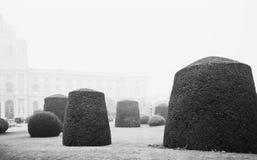 Gestalteter österreichischer Garten Stockfotos