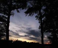 Gestalteter Sonnenuntergang Lizenzfreie Stockfotos