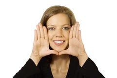 Gestaltetes Gesicht Lizenzfreies Stockbild