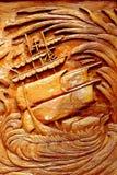 Gestaltetes hölzernes kanok Muster schön Stockbilder