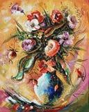 gestaltungsarbeit Blumenstrauß Autor: Nikolay Sivenkov stock abbildung