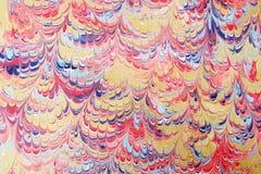 Gestaltungsarbeit des gemarmorten Papiers Stockfoto