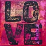 Gestaltungsarbeit mit Liebe Lizenzfreie Stockbilder