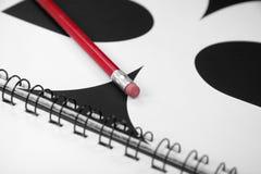 Gestaltungsarbeit und Bleistift Lizenzfreie Stockbilder