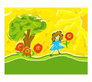 Gestaltungsarbeits-Abbildung des Kindes Lizenzfreies Stockbild