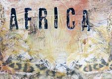 Gestaltungsarbeitshintergrund Afrika Stockfoto