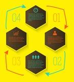 Gestaltungselement der konsequenten Weise der Seitenaufstellungs-Schritte Stockfotografie
