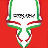 Gestaltungselement f?r HONGARIA-Staatsflagge - Vektor stock abbildung