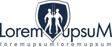 Gestaltungselement für das Logo, die Debatte, Kampfrivalen Stockfotos
