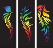 Gestaltungselemente in den Regenbogenfarben stock abbildung